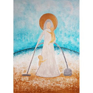 Saint Mum, original painting by Beata Dagiel