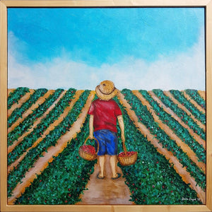 Strawberry Kid, Painting on Canvas by Beata Dagiel