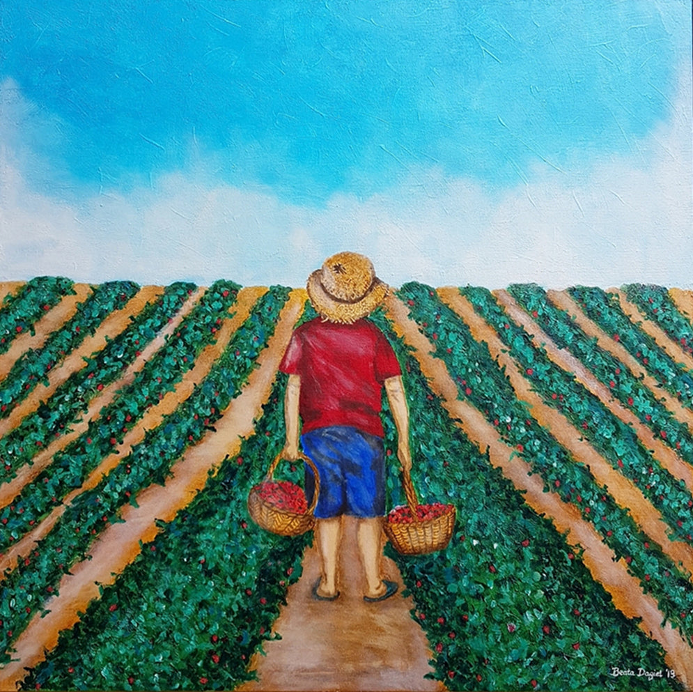 Strawberry Kid, Hight Quality Print by Beata Dagiel