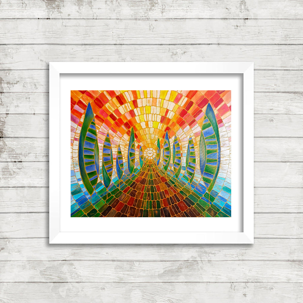 The Way, Fine Art Print from an Original Painting by Beata Dagiel, Framed