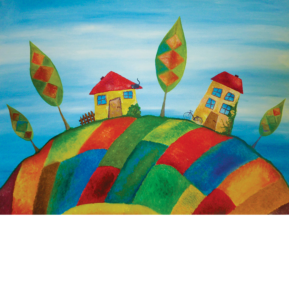 Two Homes, Fine Art Print from an Original Painting by Beata Dagiel