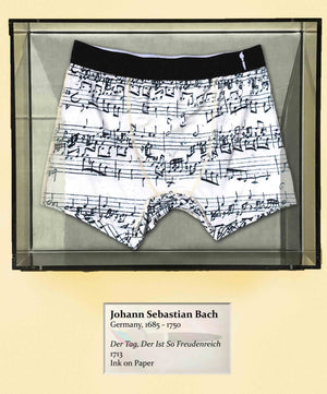 Original Score by Bach, 1713 CE, Boxer Briefs