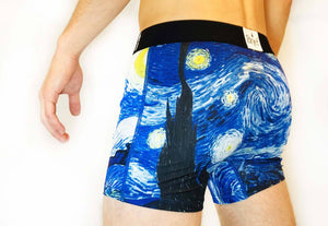 Starry Night 1889 Ce Boxer Briefs - A Brief History - Comfortable Creative Gift Mens Underwear
