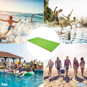 Floating Water Pad Mat,Compounded Roll-Up Floating Island