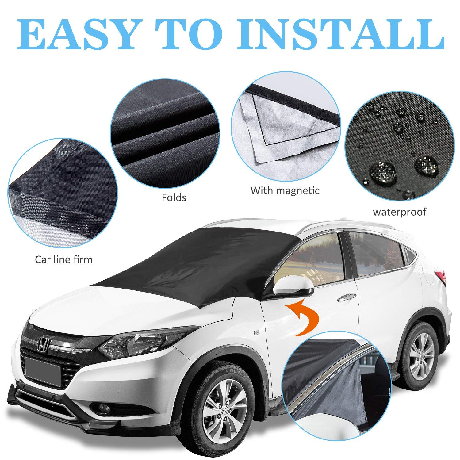 Smart magnetic windshield cover