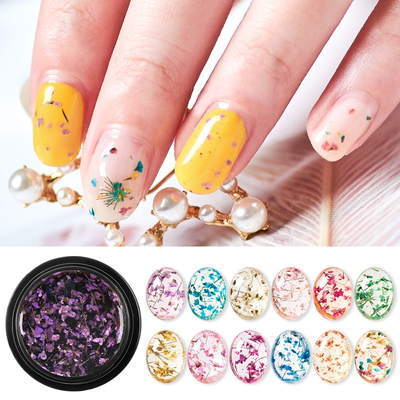 Dried Flower Gel Nail Polish