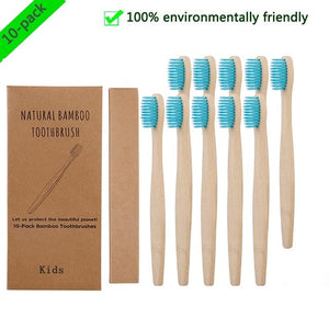 Eco-friendly Bamboo Toothbrush Set – 10 Pieces