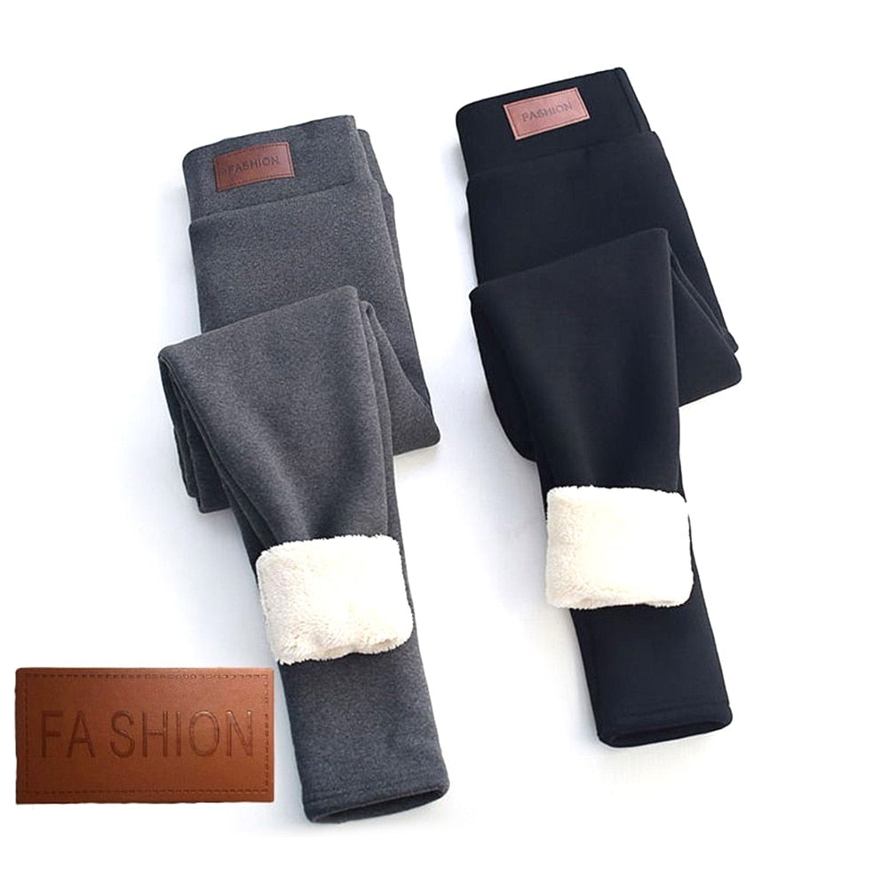 Thermal fleece lined jeggings