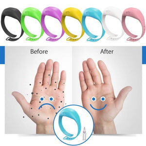 Hand dispenser adjustable wrist band