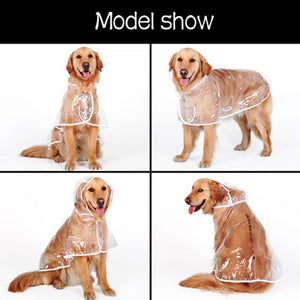 Dog transparent raincoat