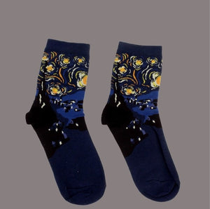Crazy character printed cotton socks