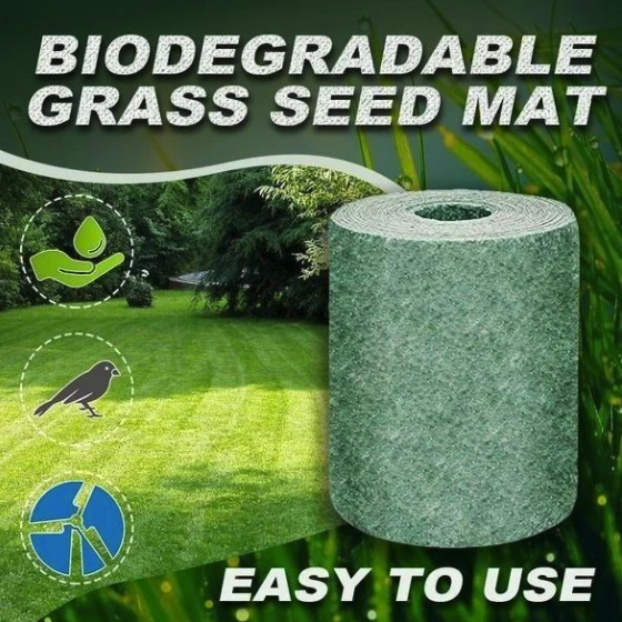Biodegradable seed mat