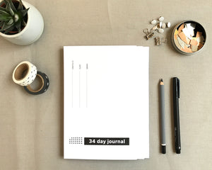 34 Day Journal - 3 pack
