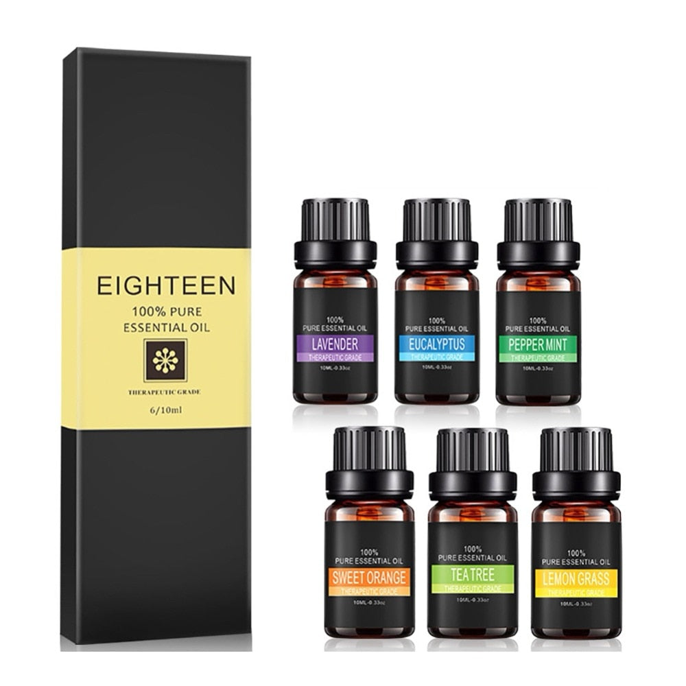 6 Piece Spa Essential Oil Gift Set