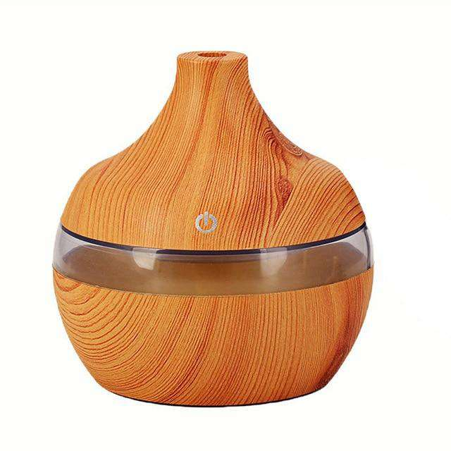 Wood Grain 7 Color LED Essential Oil Diffuser