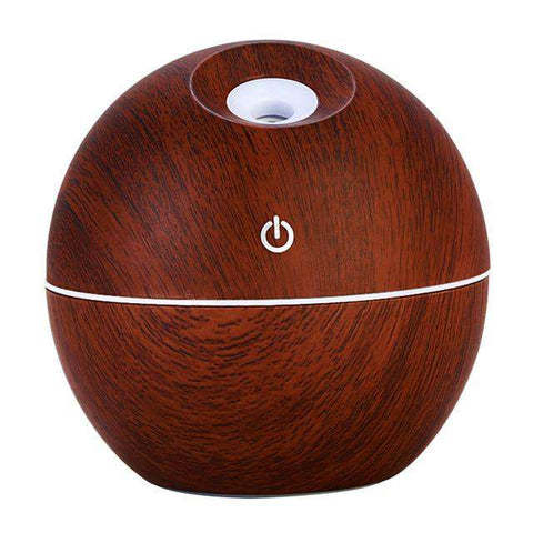 USB Wood Grain Essential Oil Diffuser 130ml