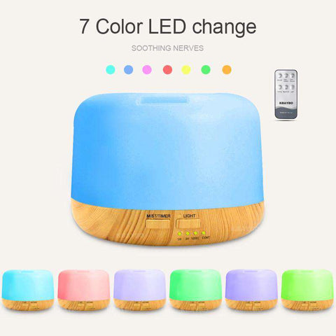 Image of 7 Color LED Diffuser With Remote 300ml