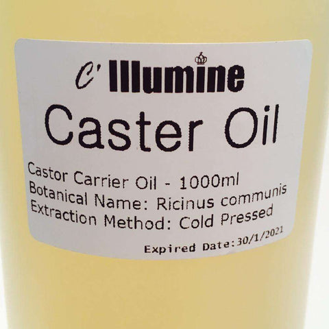 Image of 1000ml Natural Castor Base Oil Cold Pressed Bulk by Illumine
