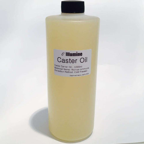 1000ml Natural Castor Base Oil Cold Pressed Bulk by Illumine