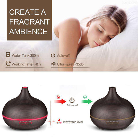 300ml Essential Oil Diffuser - Color Changing With Timer