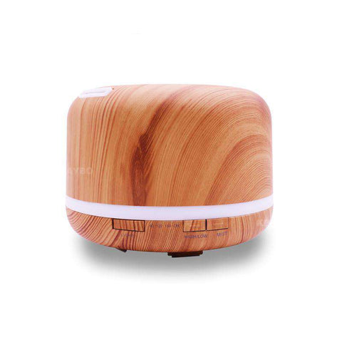 Image of KBAYBO 500ml Essential Oil Diffuser Wood Grain Color