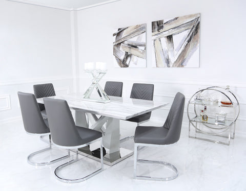 Tamara Dining Table and Dining Chairs Lux-Hom