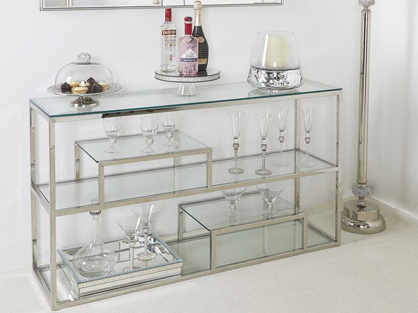 Linear Chrome Metal Furniture at Lux-Hom