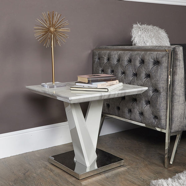 Tamara Marble End Table at Lux-Hom