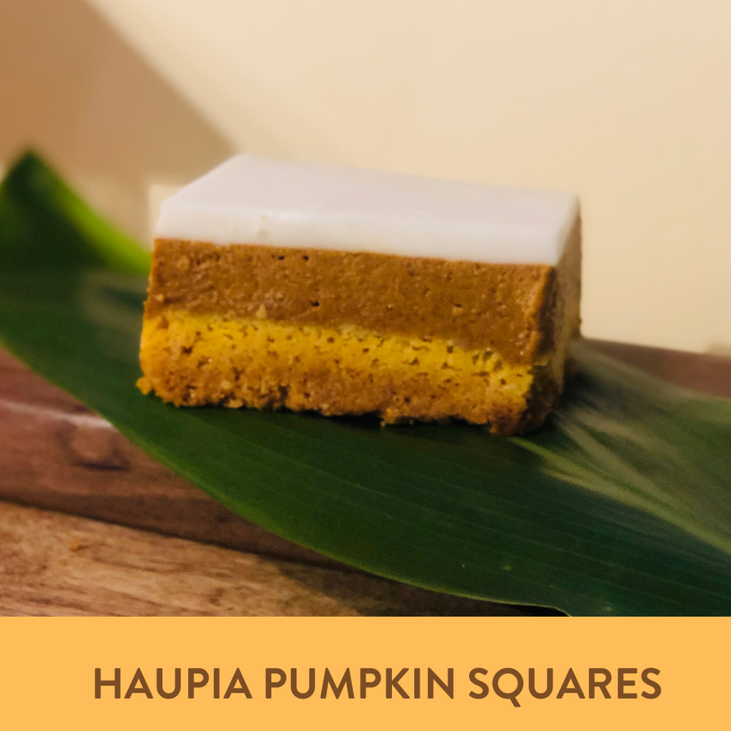 Fall Baking with Haupia Pumpkin Squares