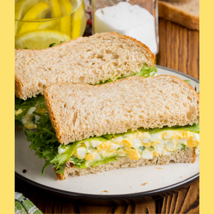 Curried Egg Salad Sandwich with Aloha!
