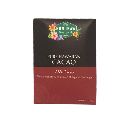 Honoka'a Chocolate Co - Pure Hawaiian Cacao Bar 85% 1oz