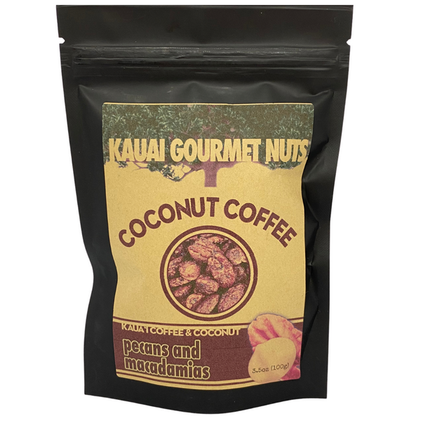 Kaua'i Gourmet Nuts - Coconut Coffee Pecans and Macadamias