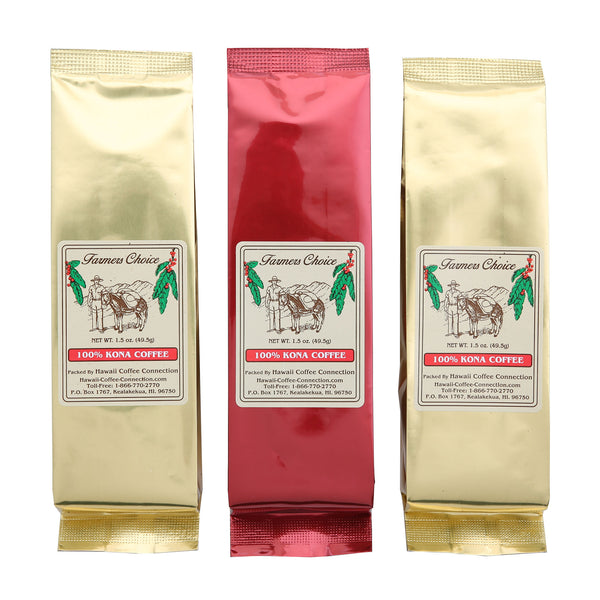 Farmers Choice 100% Kona Coffee Gift Pack