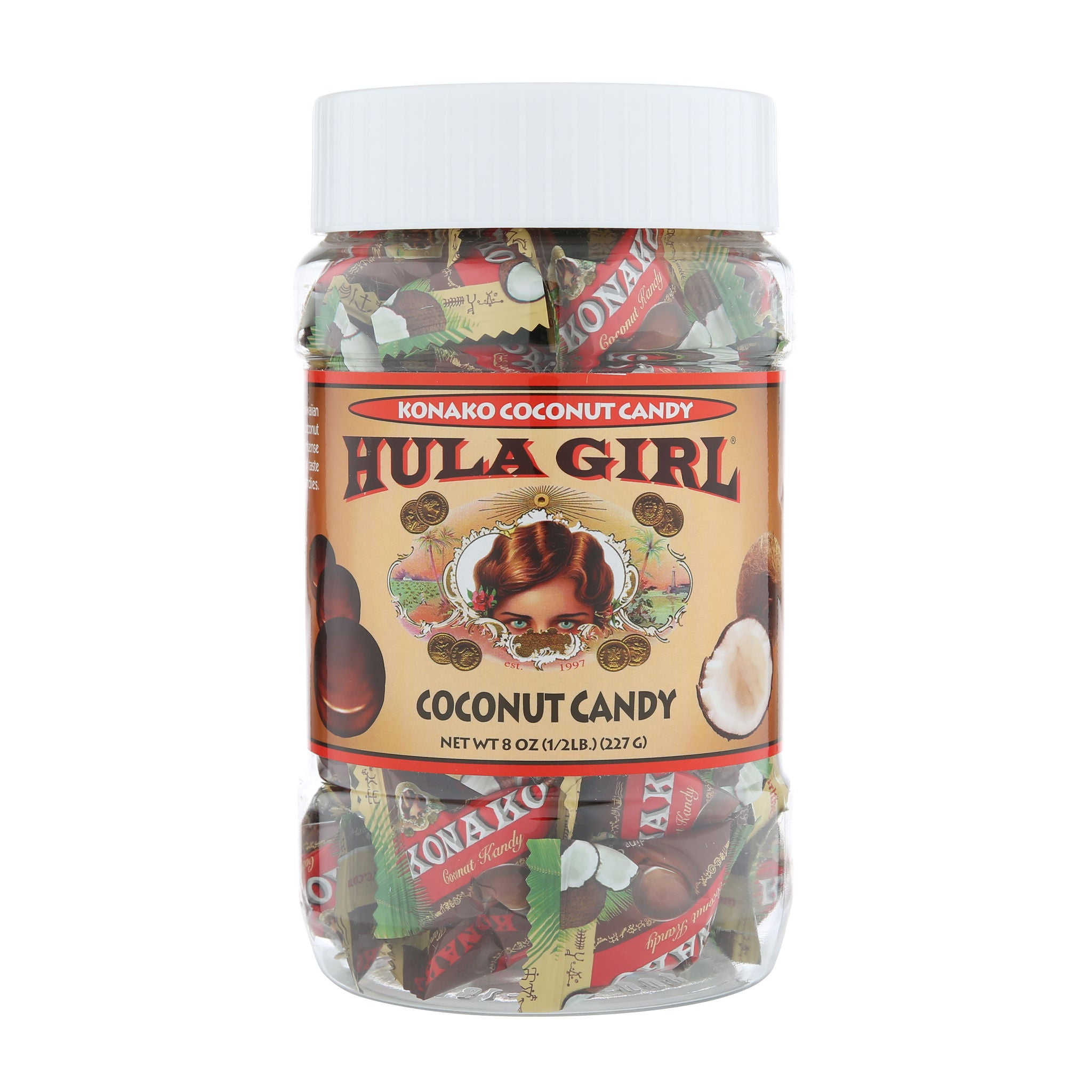 Hula Girl Coconut Candy