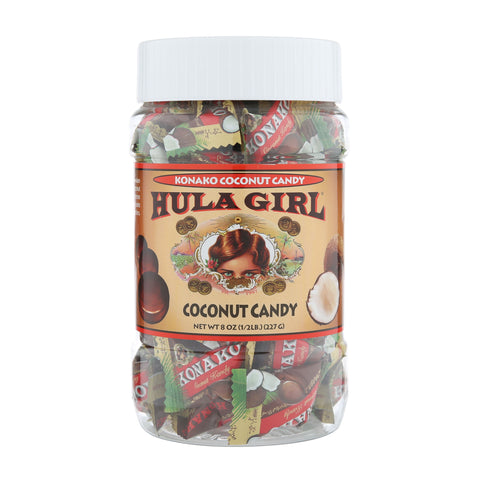 Hula Girl Coconut Candy 8oz.