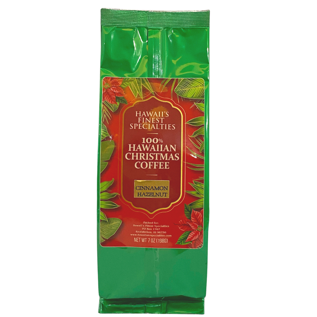 Hawaii's Finest Specialties - 100% Hawaiian Christmas Coffee Cinnamon Hazelnut