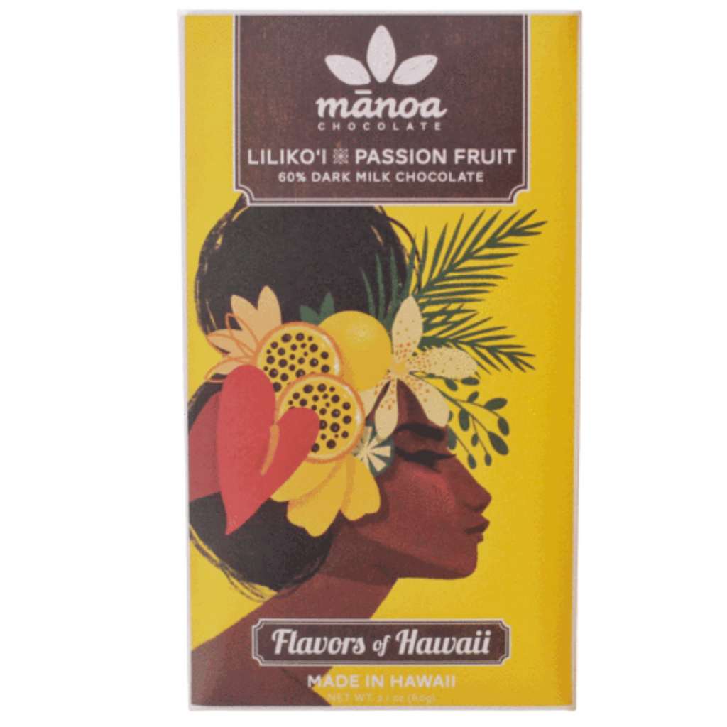 Manoa Chocolate Lilikoi 50% Dark Milk Chocolate