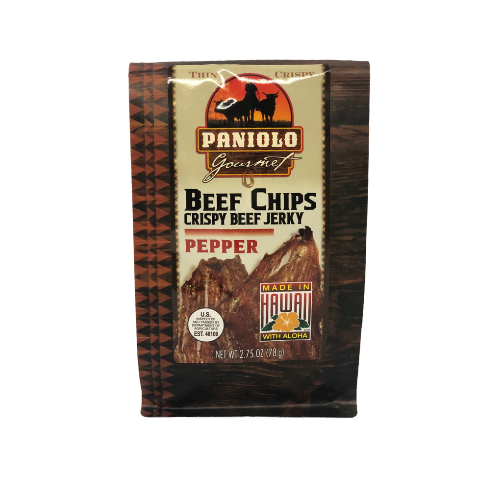 Aloha Edibles Paniolo Gourmet Beef Chips - Pepper