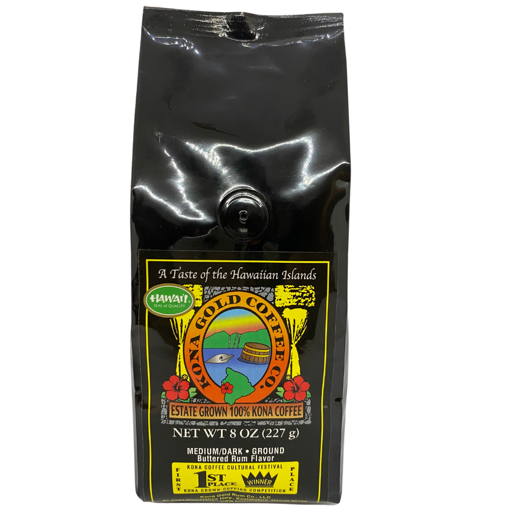 Kona Gold Coffee Co - Buttered Rum 100% Kona Coffee