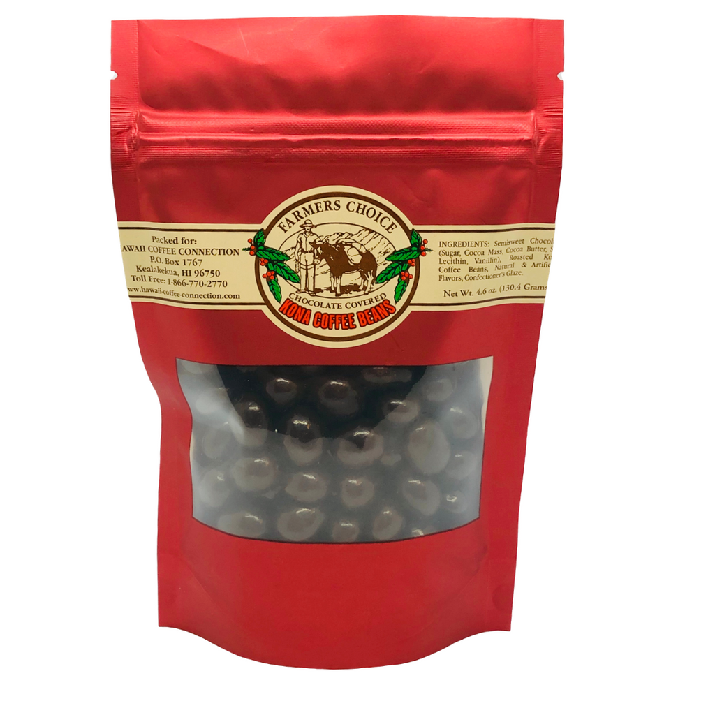 Farmers Choice Chocolate Covered Kona Coffee Beans