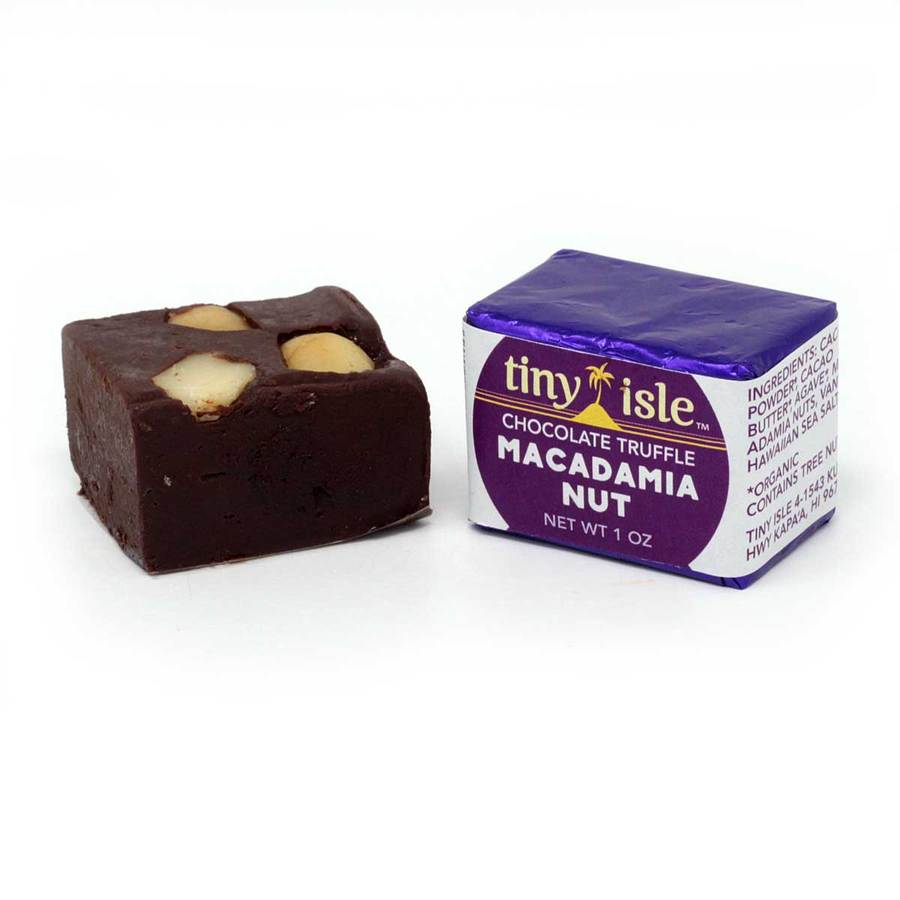 Tiny Isle - Macadamia Nut Raw Chocolate Truffle