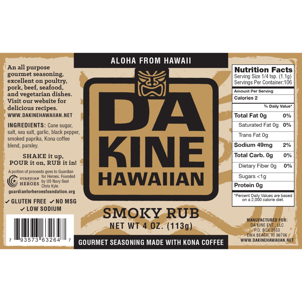 Da Kine Hawaiian Smoky Kona Coffee Rub