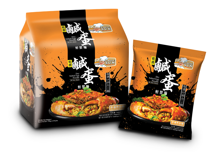 Uncle Sun Salted Egg Crab Noodle, 95g x 4 packs - fatb.asia
