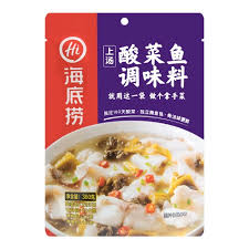 Haidilao Sauerkraut Fish Soup Based (3 - 5 persons) 海底捞酸菜鱼调料 360g - fatb.asia