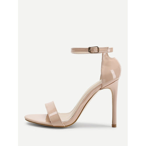 Apricot Two Part Ankle Strap Stiletto Heels