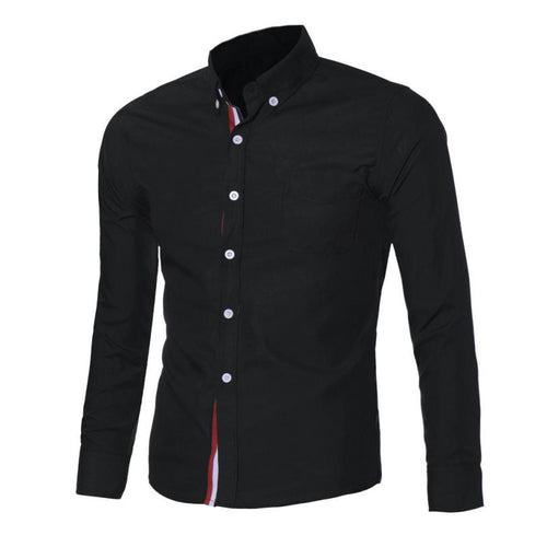 Mens Button Slim Fit Long Sleeve