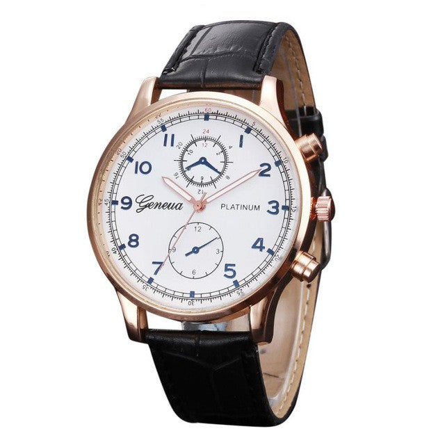 Geneva PU Leather Men's Business Watch