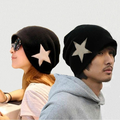 New Fashion Men's Women's Crochet Star Beanie Hat Skull Cap Ski Knit WINTER