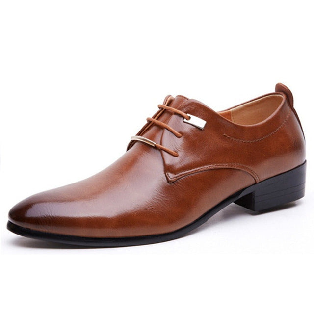 NEW Men's Brogue Pointed Oxford Shoe