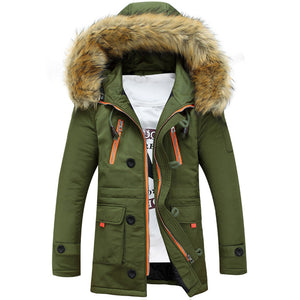 Warm Winter Hooded Fur Jacket